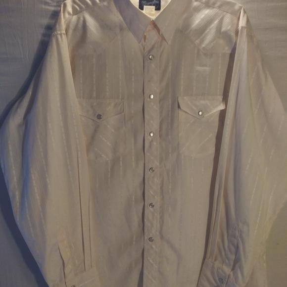 1980s Wrangler Western Pearl Snap Dress Shirt